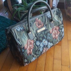 Vintage carry on overnight bag Jordache tapestry